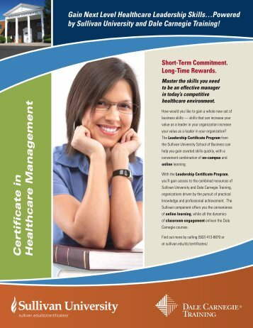 Certificate in Healthcare Management - Dale Carnegie Training