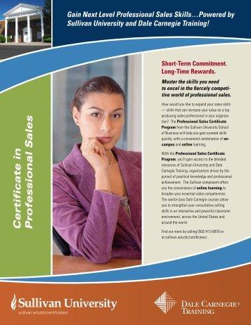 Certificate in Professional Sales - Dale Carnegie Training