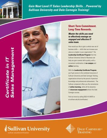 Certificate in IT Sales Management - Dale Carnegie Training