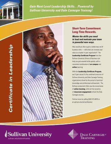 Certificate in Leadership - Dale Carnegie Training