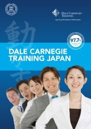 Corporate Brochure - Dale Carnegie Japan - Dale Carnegie Training