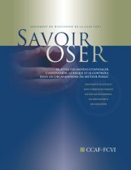 L'innovation, le risque et le contôle - Savoir Oser - CCAF-FCVI Inc.