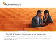 The ICD-10 Transition: Prepare now - OptumCoding.com