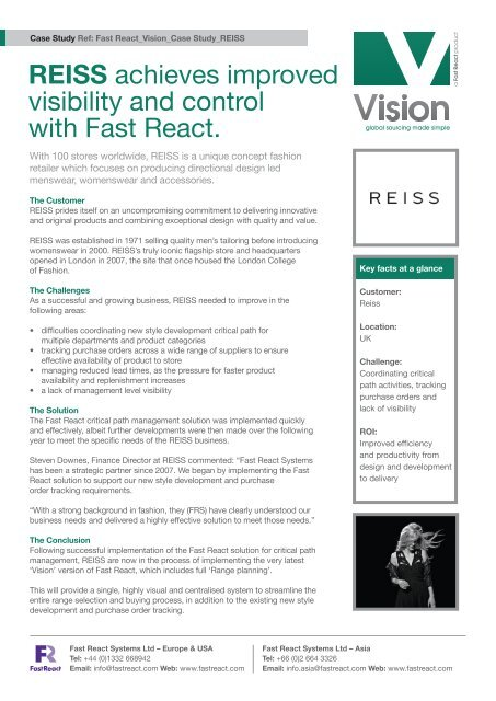 Download this case study as a PDF file - Fast React