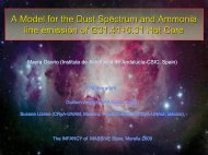 A Model for the Dust Spectrum and Ammonia line ... - CRyA, UNAM