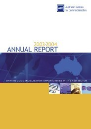 Annual Review 2003 - The Australian Institute for Commercialisation