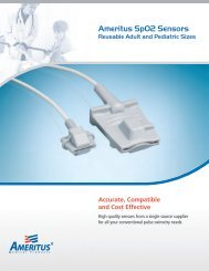 Ameritus SpO2 Sensors - MetroMed, Inc