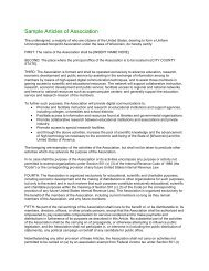 Articles of Association - Center for Community Technology Solutions