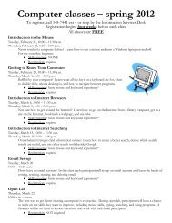 Download a training schedule here - University of Wisconsin ...