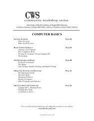 Computer Basics (PDF) - UNC Chapel Hill Libraries