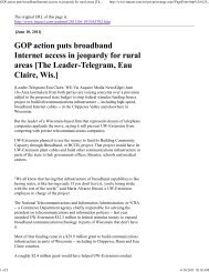 GOP action puts broadband Internet access in jeopardy for rural areas