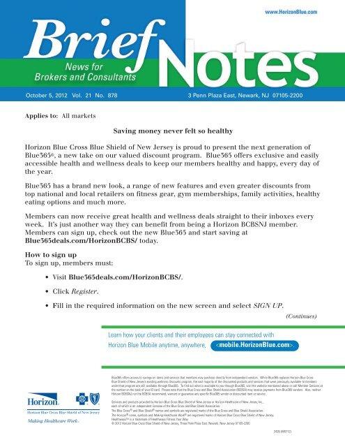 Horizon BCBS Blue365 - Creative Benefit Plans