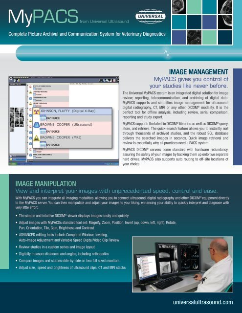 Download The Pdf Brochure Here Universal Imaging