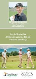 Ihre individuellen Trainingsbausteine für ein besseres Handicap