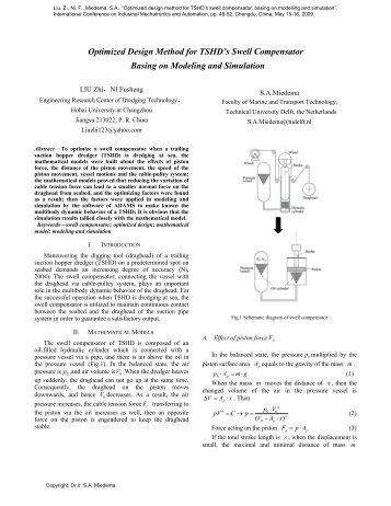 TSHD's Swell Compensator Optimized Design Basing on Modeling ...