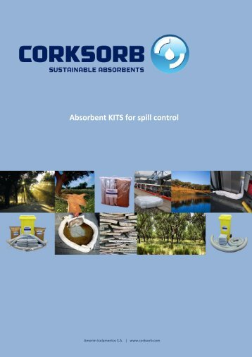 Catalogue - Absorbent kits for spill control - CORKSORB