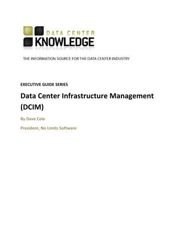 Data Center Infrastructure Management (DCIM) - Vogel Business ...
