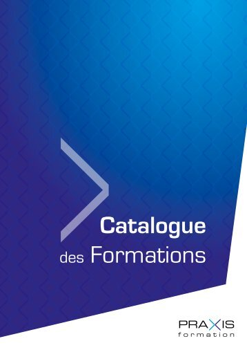 Catalogue Formations