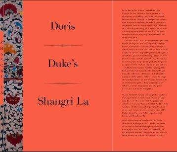 Shangri La Duke's Doris - Doris Duke Charitable Foundation