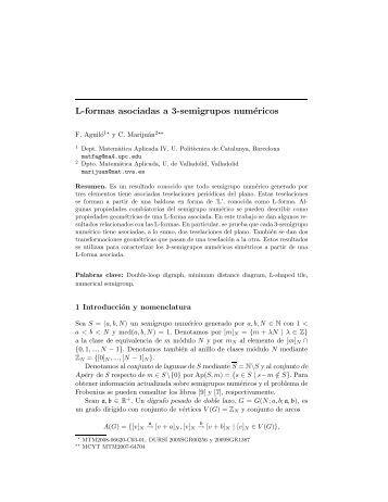 L-formas asociadas a 3-semigrupos numéricos - VII Jornadas de ...