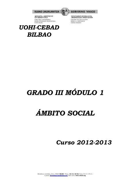 Social Grado 3 Mã Dulo 1 Cebad Centro De Educaciã N Bã