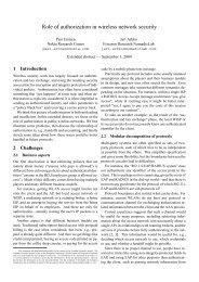 Role of authorization in wireless network security - Jari Arkko
