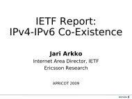 IPv4-IPv6 Co-Existence in the (Mobile) Internet - Jari Arkko