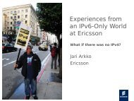 Experiences with IPv6-Only Networking at Ericsson - Jari Arkko