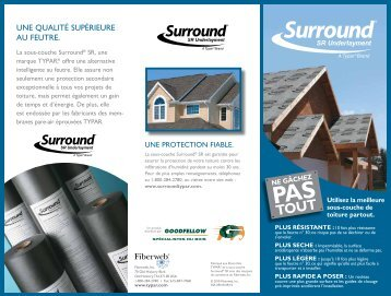 Brochure Surround SR - Goodfellow Inc.