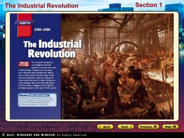 The Industrial Revolution Section 1 - Geneva Area City Schools