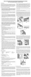 INSTALLATION INSTRUCTIONS FOR ... - Goodfellow Inc.