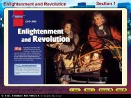 Section 1 Enlightenment and Revolution