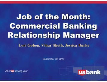 Commercial Banking Relationship Manager - US Bank