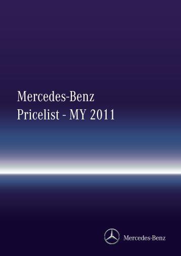 Mercedes Benz Pricelist   MY 2011