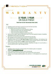 Warranty 1 - Goodfellow Inc.