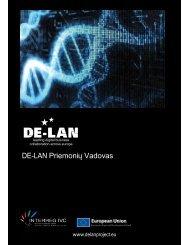 DE-LAN Priemoniǐ Vadovas