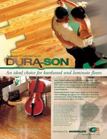 An ideal choice for hardwood and laminate floors - Goodfellow Inc.