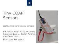 Tiny COAP Sensors - Jari Arkko