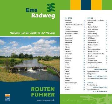 Ems Radweg ROUTEN FÃœHRER