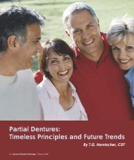 Partial Dentures: Timeless Principles and Future ... - JDT Unbound