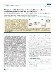 Photoelectron Spectroscopy and ab Initio Study - American ...