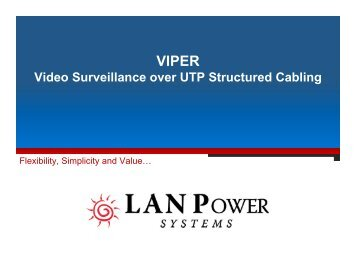 Video Surveillance over UTP Structured Cabling - LAN-Power ...