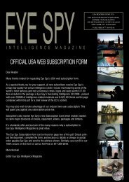 UK SUBSCRIPTION FORM 2007 - Eye Spy Intelligence Magazine