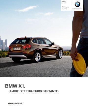 Les équipements option de la BMW X1