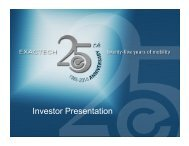 Investor Presentation - Hawk Associates