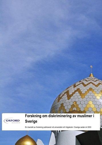 Forskning om diskriminering av muslimer i Sverige
