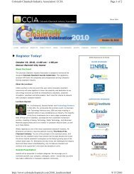 Keynote Speaker Announced for the Colorado Cleantech Awards ...