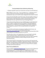 Transcend Medical Closes $51M Series B Financing