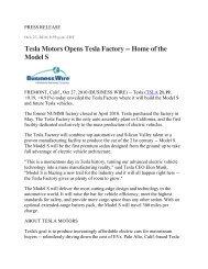 Tesla Motors Opens Tesla Factory -- Home of the Model S