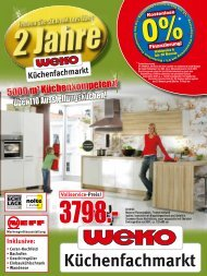 Inklusive - WEKO-Küchenfachmarkt
